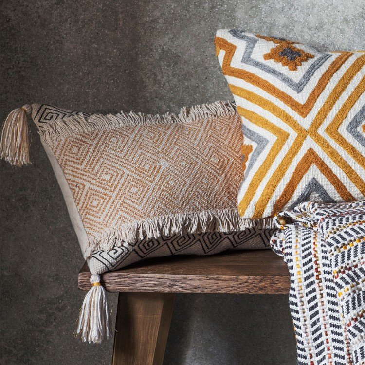hansa cushion ochre
